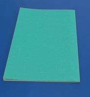 表紙も印刷無し、表紙をくるんで製本してあります。